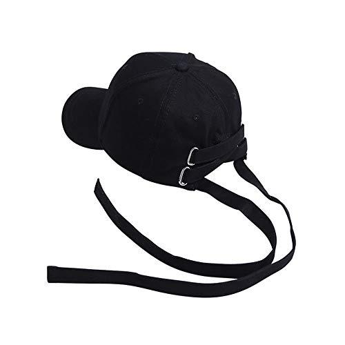 st Lange Gürtel Hut Einstellbare Kappe Mode Persönlichkeit Jugend Hut Persönlichkeit Hip Hop Hut Punk Stil Casual Trend Kappe Unisex Outdoor Sports Baseball Cap (Color : Black) ()