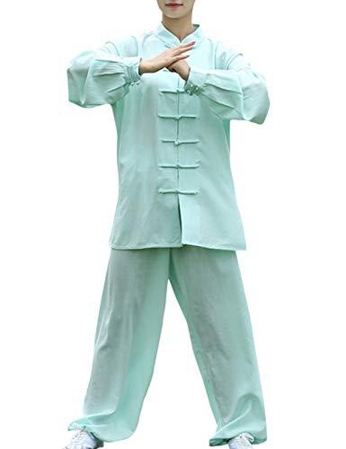 TAAMBAB Baumwolle Leinen Tai Chi Kleidung Martial Arts Uniform Erwachsenes Kind - Performance Kostüm für Herren Damen Jungen Mädchen