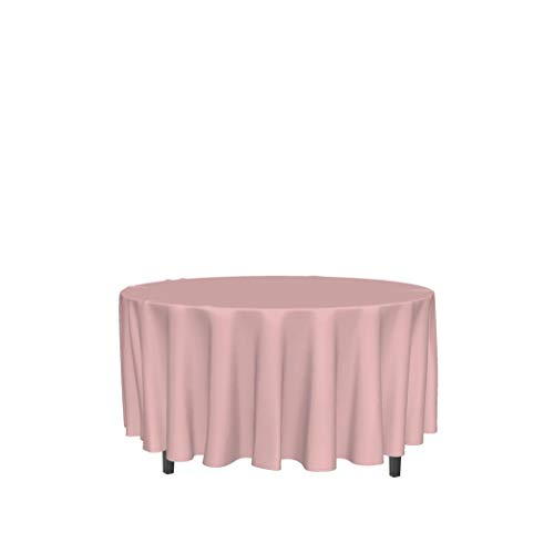 Soleil d'ocre 815235 ALIX Nappe anti-tâches ronde Polyester Rose 180 cm