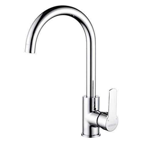 XIAOTAP Chrome Kitchen Sink Mischbatterien 304 Edelstahl Schwenkauslauf Einpoligen Wasserhahn -