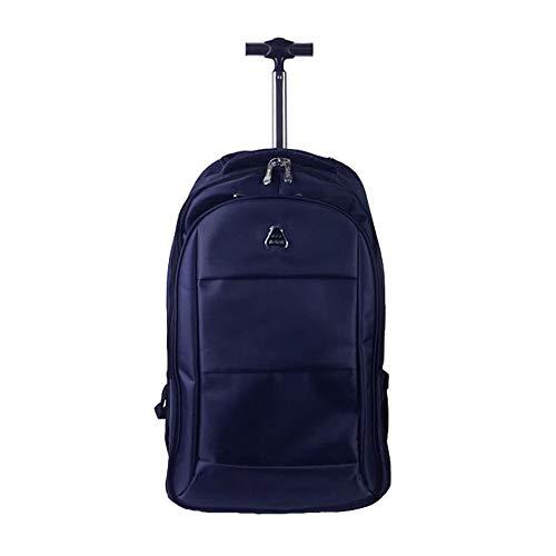 LBYMYB Reisetasche Rucksack Große Kapazität Student Schulter Trolley Reisetasche Business Boarding Bag Roller Rucksack (Color : Blue, Size : 54x22x32cm)