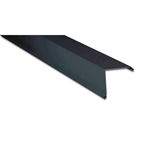Ortgangwinkel | Kantteil | 115 x 115 mm | Material Aluminium | Stärke 0,70 mm | Beschichtung 25 µm | Farbe Anthrazitgrau