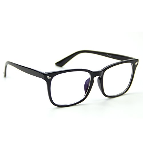 Cyxus transparente linse brillen,gewöhnliche gläser retro mode unisex brillen, schwarz klassisc...