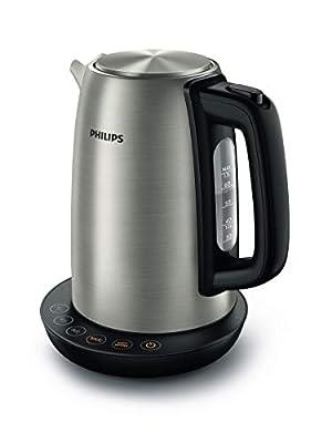 Philips HD9359/90 Bouilloire en acier inoxydable pour thé jusqu'à nourriture pour bébé 2200 W 1,7 l