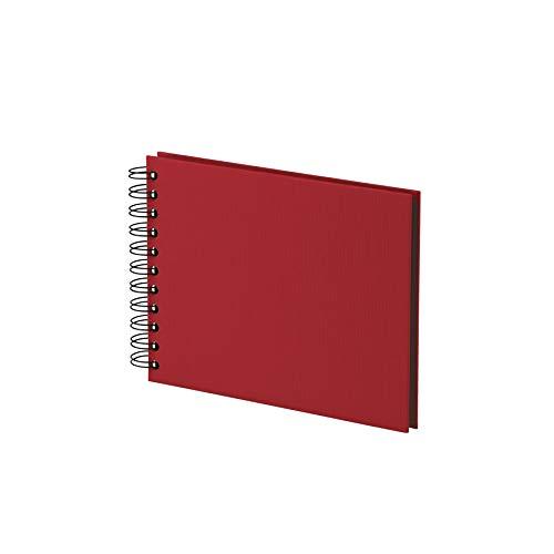 Rössler 1329452360 - S.O.H.O. Wire-O Fotoalbum 195 x 145 mm, 20 Blatt, Rot