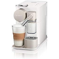 Nespresso De'Longhi Lattissima One EN500W - Cafetera monodosis de cápsulas Nespresso con depósito de leche compacto, 19 bares, apagado automático color blanco