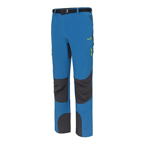 Izas Baltic, Pantaloni di Montagna Uomo, Azzule Fiume/Scuro Grigio, M