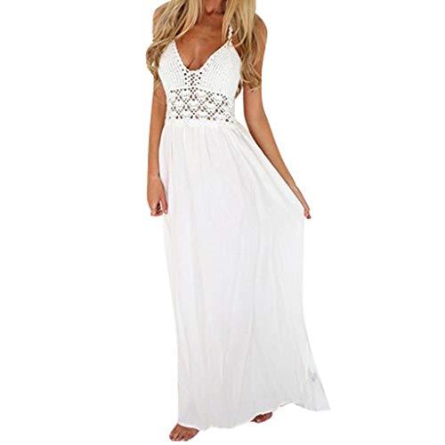 Kleider Damen Dasongff Sommerkleider Frauen Bikini Bademode Cover Up Cardigan Beach Badeanzug Kleid Strandkleid Chiffonkleid Weiß (Weiß-I, L) -