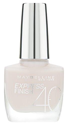 Rush-finish (Maybelline Express Finish Nagellack, Nr. 316/80 Rose Rush, trocknet in nur 40 Sekunden, Schock-Control-Film schützt die Farbe vor Absplittern, in hellem zart-rosa, 10 ml)
