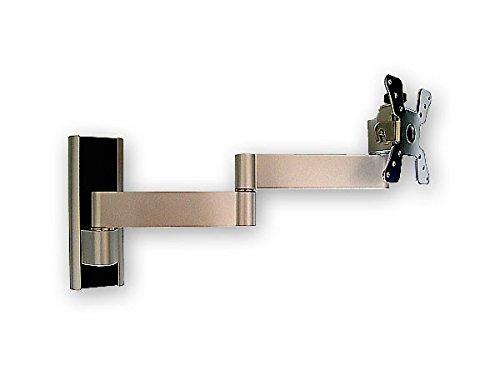 Fernsehhalterung Befestigung LCD LED Monitor (VESA 50 75 100) Silber neigbar schwenkbar Modell: L49 - 6