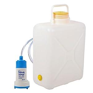 Weithalskanister Set 16 Liter Kanister inkl Tauchpumpe 12v 12 Liter/Minute