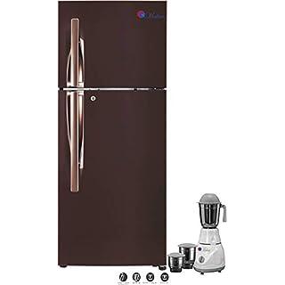 Makan Amber Steel 260 L Frost Free Double Door Fridge, Refrigerator Freezer with Use of Low Energy