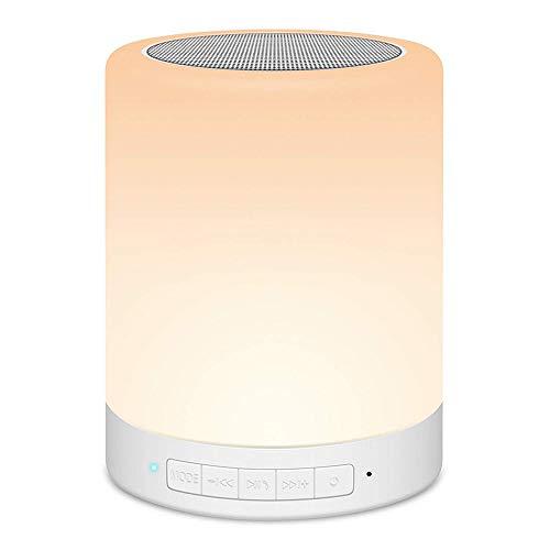 Stimmung Unterstützen (HHCC Bluetooth-Audio-Lautsprecherlicht, Nachtlicht-Wabel-Lautsprecher mit Farbe LED-Stimmung Licht unterstützen TF-Karte AUX-in Freisprecheinrichtung Schlaf lesen Camping)