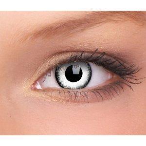 Farbige weiße weisse lunatic crazy Kontaktlinsen ohne Stärke crazy contact lenses