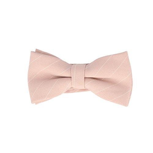 Frederic Thomass Pajarita corbata de moño rosa rayas algodón