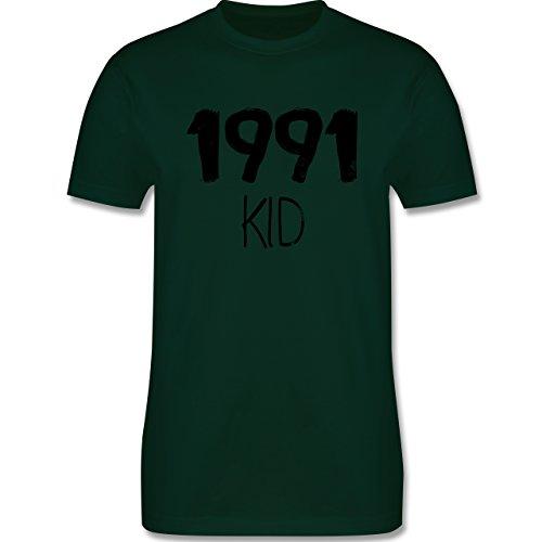 Geburtstag - 1991 KID - Herren Premium T-Shirt Dunkelgrün