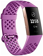 Fitbit Charge 3, Advanced Fitness Tracker, with Heart Rate, Swim Tracking & 7 Day Battery, Graphite/B
