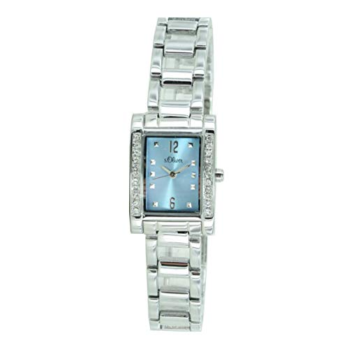 s.Oliver Damen-Armbanduhr Analog Quarz SO-15008-MQR