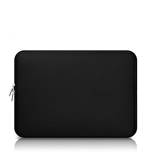 """OULII 13inch Laptop Sleeve Cas Sac Housse pour 13"""" Apple Sony Samsung Ordinateur Portable (Noir)"""