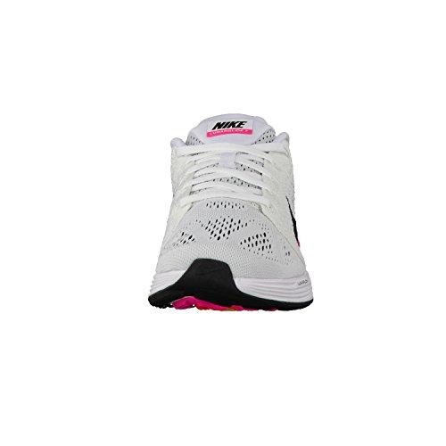 Nike Damen Lunarglide 7 Laufschuhe, Anthrct-SL-TR Yllw-Hypr Orng, Pointure Blanco (White / Black-Pink Blast)