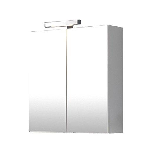 #Badezimmer Spiegelschrank »BLANCON222« Hochglanz weiß#