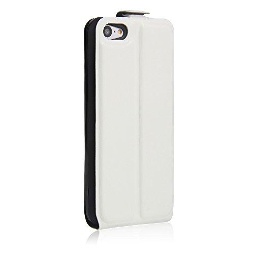 Coque iPhone 5C,Manyip Téléphone Coque - PU Cuir rabat Wallet Housse [Porte-cartes] multi-Usage Case Coque pour iPhone 5C,Classique Mode affaires Style B