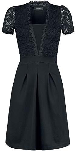 Vive Maria Party Lace Dress Mittellanges Kleid schwarz L