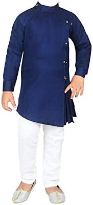 FELIZ THE DESIGNER STUDIO cotton Kurta and Pyjama Set for Boys blue …