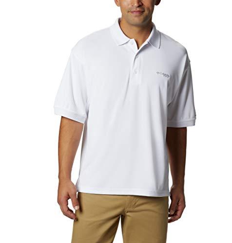 Austin Weißes T-shirt (Columbia Herren PFG Perfect Cast Poloshirt, atmungsaktiv, UV-Schutz, Herren, weiß, X-Large)