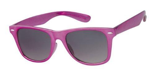 Wayfarer Sonnenbrille, Lila, Gelb, inkl. Umhängekordel, Vollständiger UV - 400-Schutz