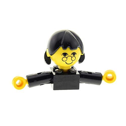Bausteine gebraucht 1 x Lego System Homemaker Großkopf Figur Frau Mutter Oma Lehrerin Kind Mädchen Torso schwarz Gesicht mit Brille Arme kurz Haare lang ohne extra Halterung x196 685px2c01