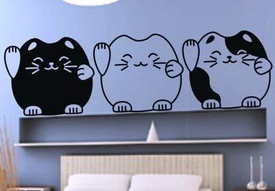 Cartoon Kreative Glückliche Katze DIY Zitat Worte Aufkleber Dekoration Tapete Wandaufkleber -