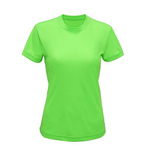 Workwear World - T-shirt de sport - Femme Vert clair/vert sapin foncé