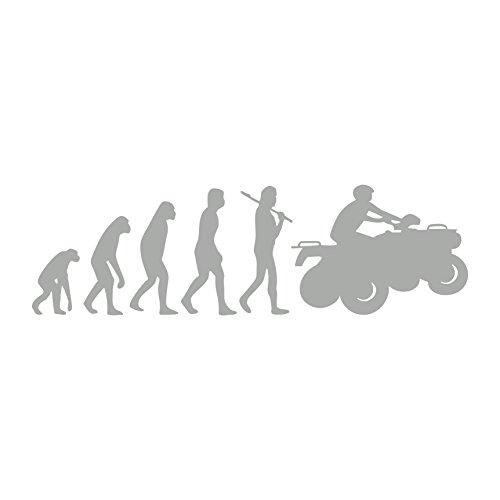 Evolution Quad Aufkleber Biker ATV Motorrad Aufkleber (Silber) (Aufkleber Lustig Atv)