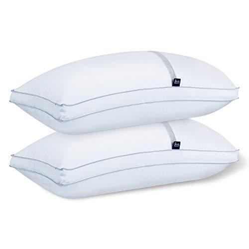 BedStory【Nueva Versión Almohada Antiácaros 42 x 70 cm Pack 2 Almohadas de Hotel Almohada con Relleno...