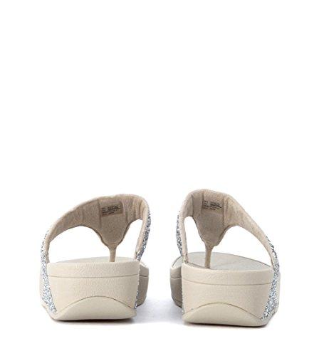 Sandalo infradito FitFlop con strass argento Argento