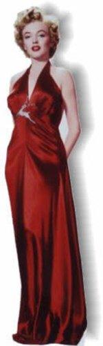 yn Monroe - Red Gown Standup Figur Kinoaufsteller Pappfigur Cardboard Lebensgroß Life-Size Standup ()