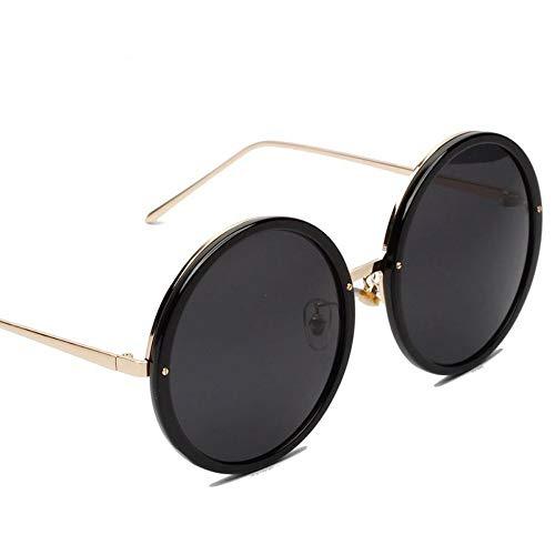 ZHOUYF Sonnenbrille Fahrerbrille Große Runde Sonnenbrille Frauen Rosa Sonnenbrille Uv400 Übergroßen Sonnenbrille Für Frau Kreis Brille Weibliche Oculos, A
