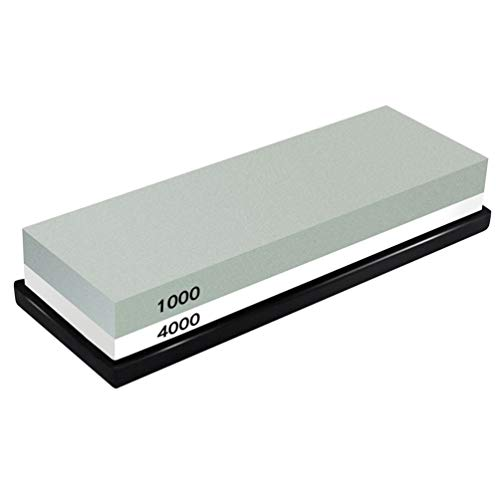 Schärfstein, Premium 1000/4000 Schleifwerkzeug mit Silikon Rutschfeste Basis für Schwertschere Rasierer