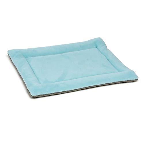 Chytaii. Teppich für Hunde, Katzen, Liegekissen, für Hunde und Katzen, waschbar, Plüsch, doppelte Matratze, warm, komfortabel, dick, Blau, Xs-48 * 35 * 3cm, XS