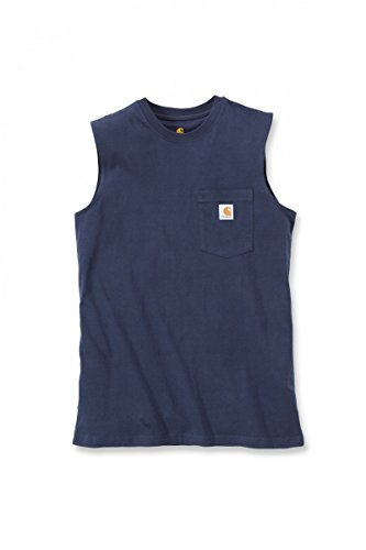 Carhartt Workwear Pocket Sleeveless Shirt 100374 Navy