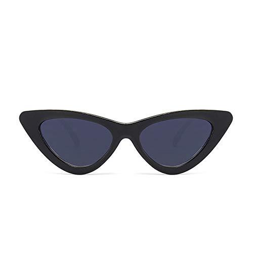 Holeider Sonnenbrille Damen Verspiegelt Unisex Retro Vintage Brille Sonnenbrille Damen Schwarz cat eye UV400