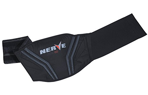 Nerve Push Cinturón de Soporte Lumbar para Moto, Negro, L