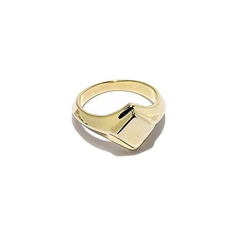 Pamela Love Apex Signet Ring - Size O