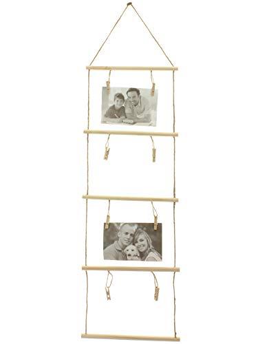 MIK funshopping Fotohalter Kartenhalter Fotoleiter Photo Ladder mit 8 Klammern