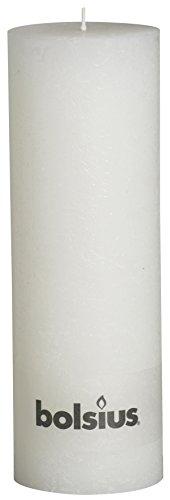Rustikal 103867210302Stumpenkerze, Paraffin Wax, Weiß