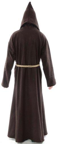 Mönchskutte Mittelalter Kleidung Kutte Schafwollfilz schwarz L Braun