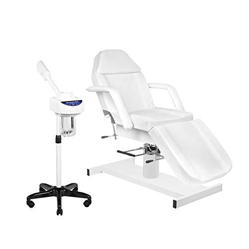 JY08 - Camilla de masaje (con vaporizador), color blanco
