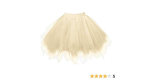 Lazzboy Donna tut/ù Gonna Tulle Organza A-Line Petticoat Balletto Danza Layred Taglia 36-56