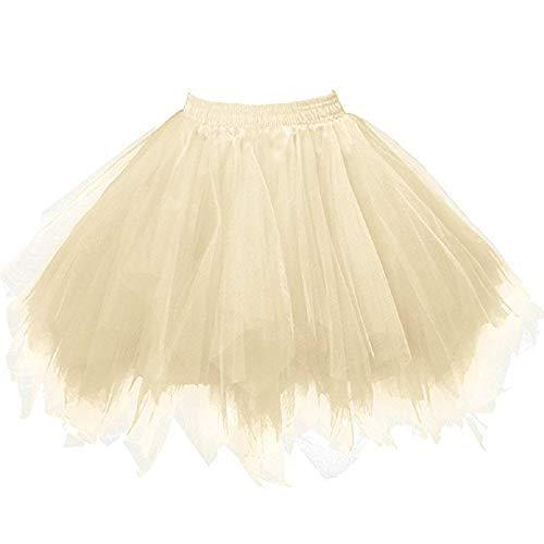 CixNy Damen Kleider Röcke Kurzarm Sommerkleider Strandkleid Sommer Abendmode Hohe Qualität Gefaltete Gaze Adult Tutu Tanzen ()